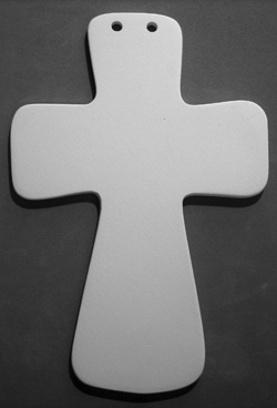 Medium Fluted Cross-
